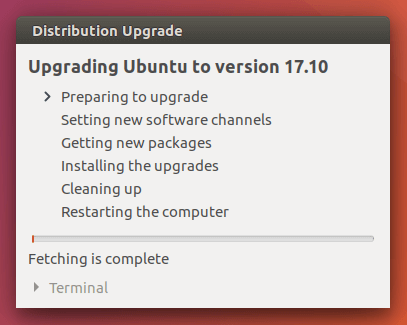 upgrade ubuntu to version 17.10