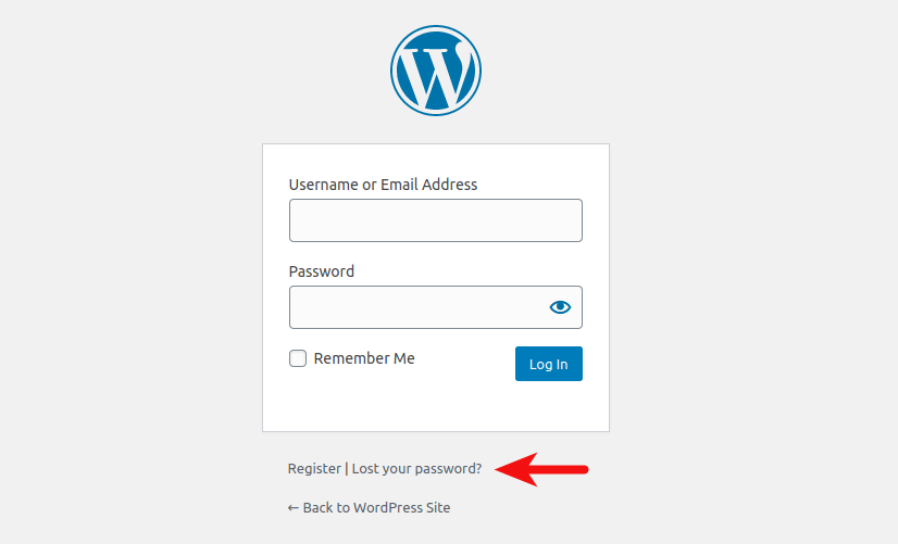 wordpress lost your password
