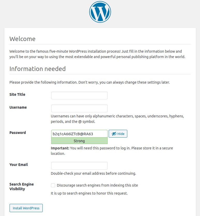 wordpress ubuntu 20.04 PHP7.4