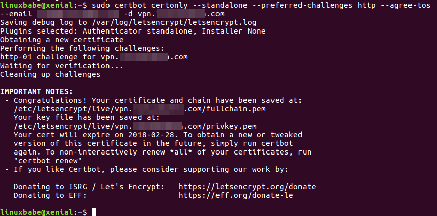 install openconnect ubuntu server