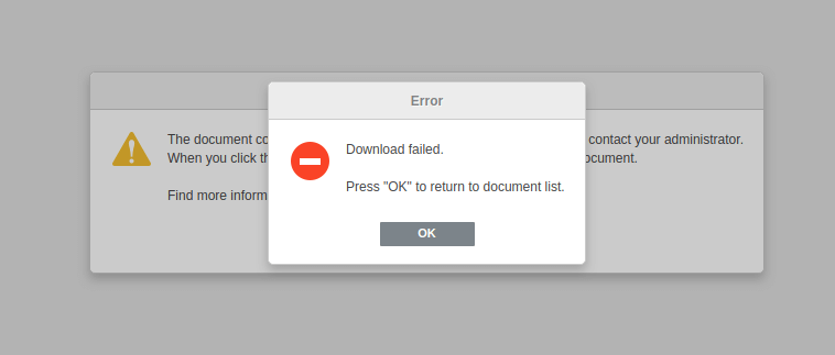 onlyoffice download failed