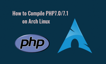 How to Compile PHP7 on arch linux