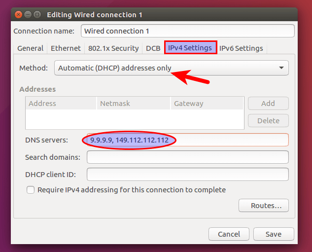 automatic DHCP address only
