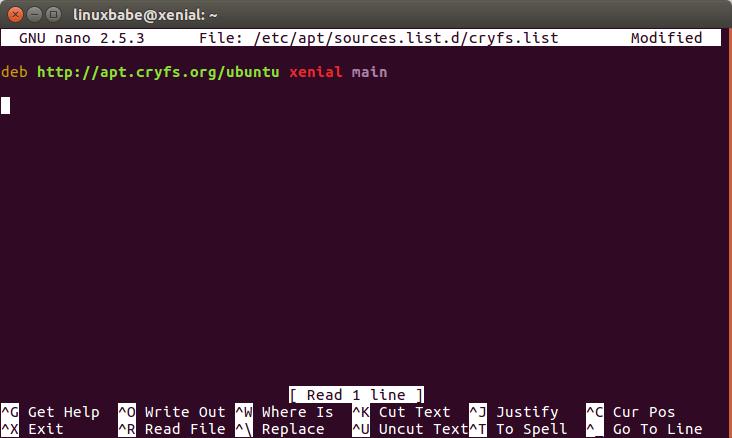 cryfs linux