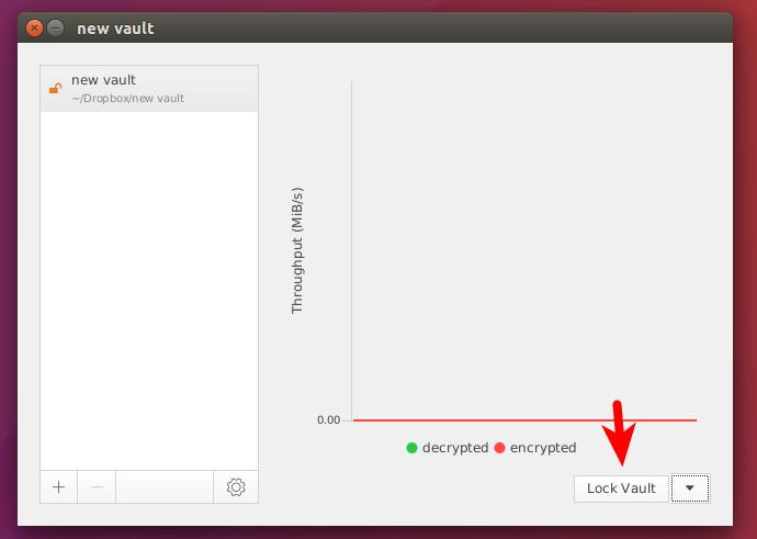 cryptomator lock vault