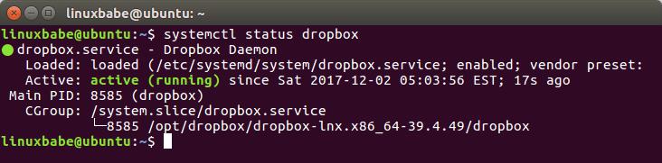 dropbox ubuntu headless