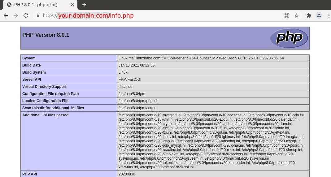 ubuntu 20.04 install php8.0