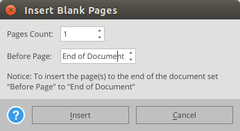 PDF insert blank pages
