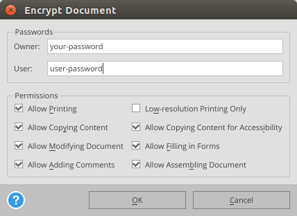 able2extract encrypt PDF file