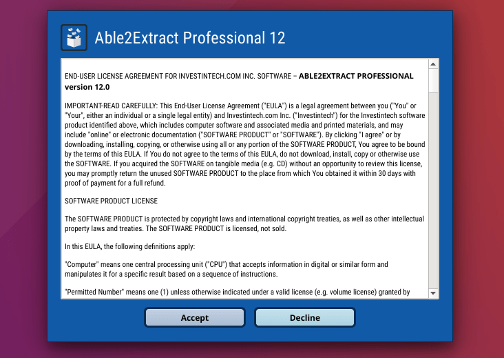 able2extract for linux
