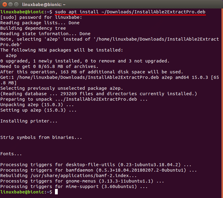 install able2extract professional on ubuntu