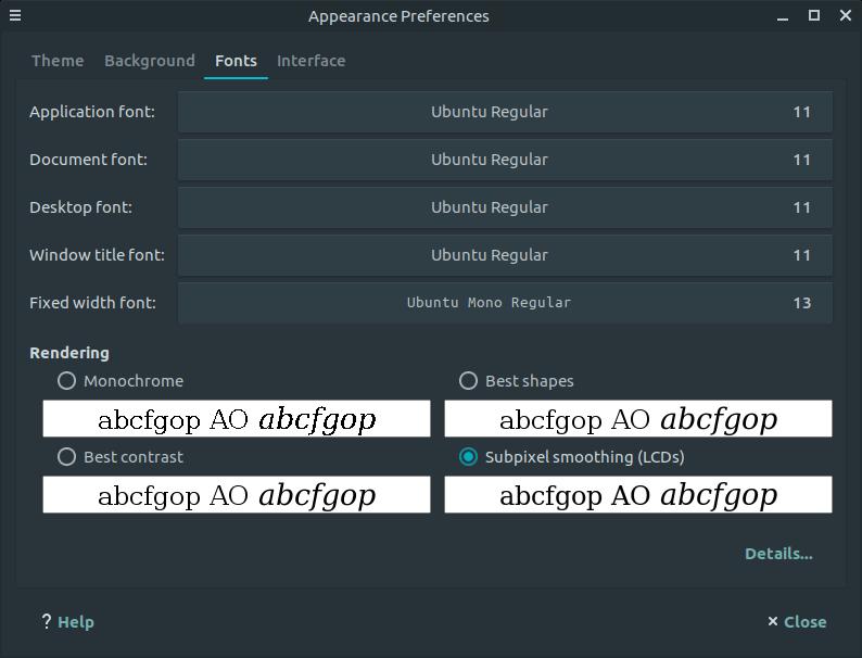 debian 9 stretch ubuntu font