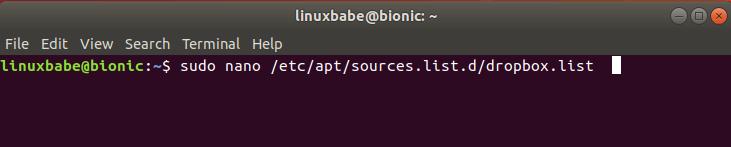 dropbox ubuntu 18.04