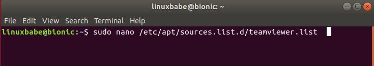 install teamviewer ubuntu terminal