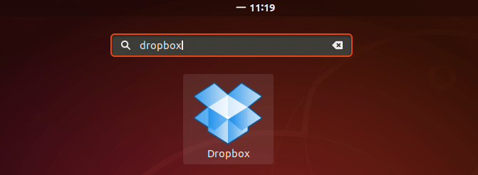 start dropbox ubuntu command line
