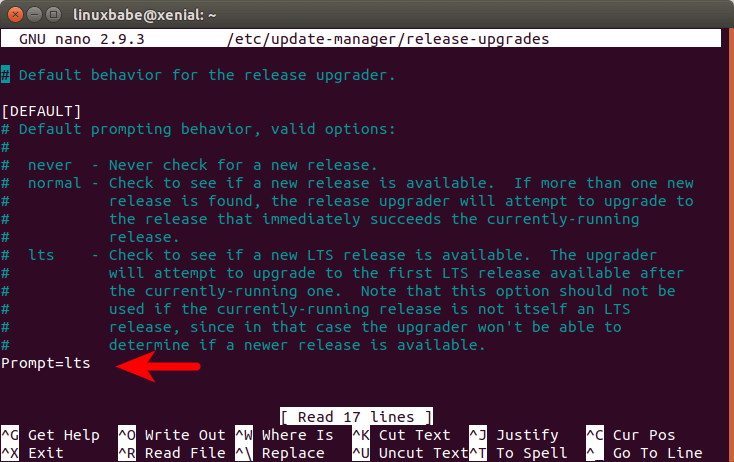 update ubuntu lts to lts