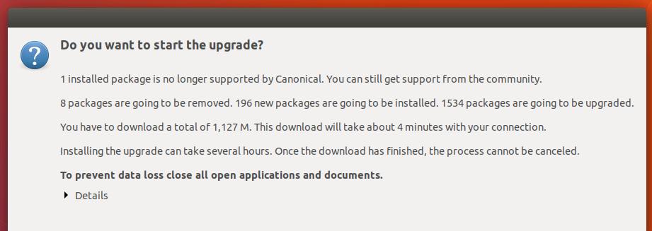 upgrade to ubuntu 18.04 LTS