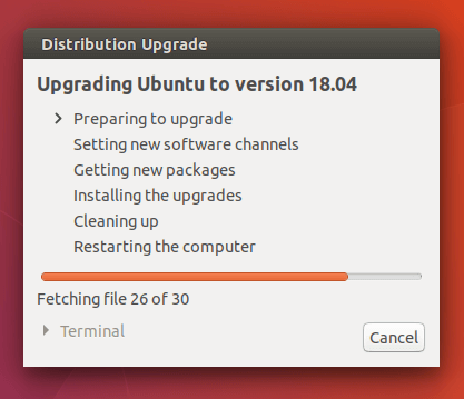 upgrade ubuntu to version 18.04