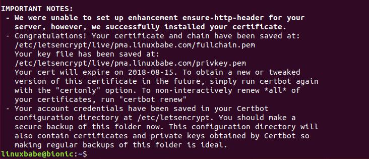 phpmyadmin https ubuntu 18.04