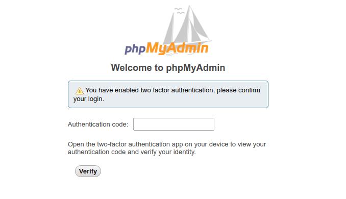 secure phpmyadmin