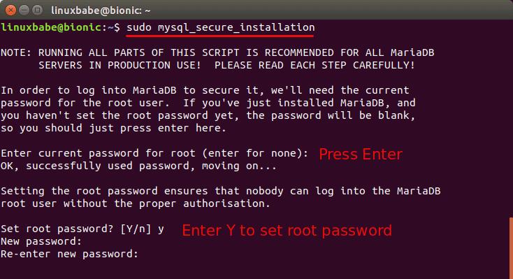 ubuntu 18.04 install lemp stack