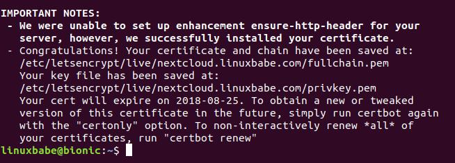 ubuntu 18.04 nextcloud 13
