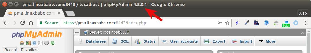 ubuntu 18.04 phpmyadmin 4.8