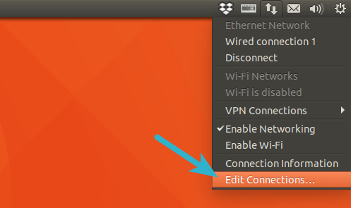 network manager change DNS