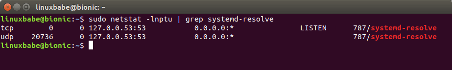 systemd-resolved stub resolver