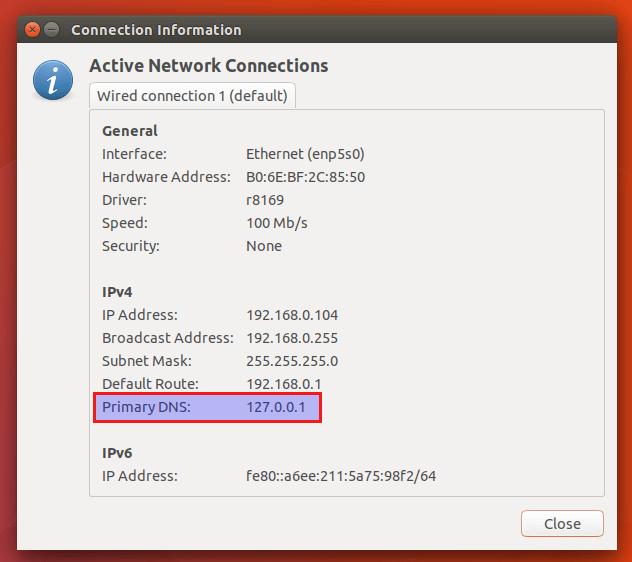 ubuntu 18.04 dns over tls