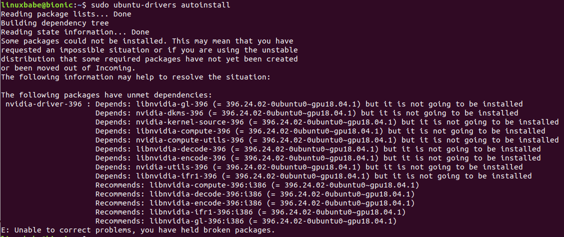 ubuntu 18.04 nvidia driver ppa