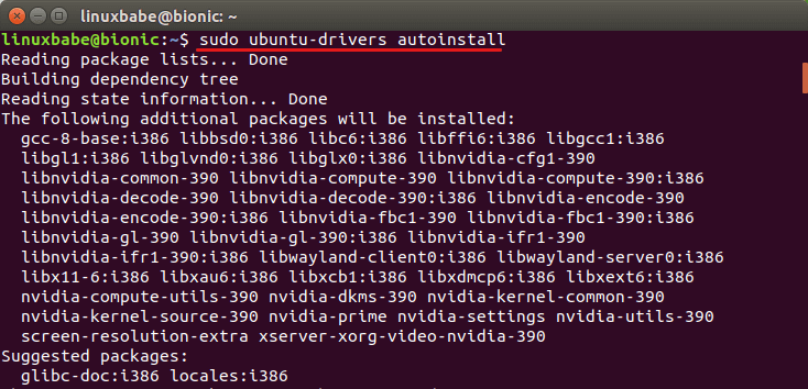 ubuntu 18.04 nvidia drivers not working