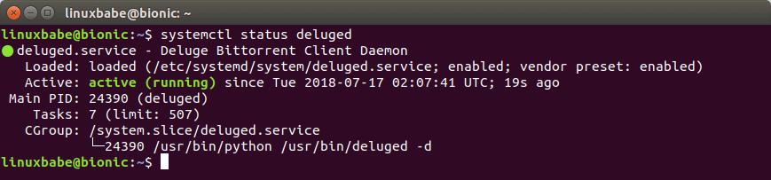install deluge ubuntu 18.04