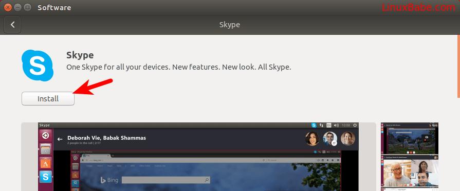 skype snap store