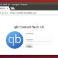 qbittorrent remote webui