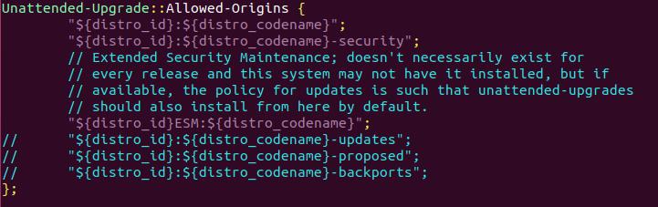 unattended upgrades ubuntu 18.04