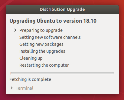 upgrade to ubuntu 18.10 cosmic cuttlefish