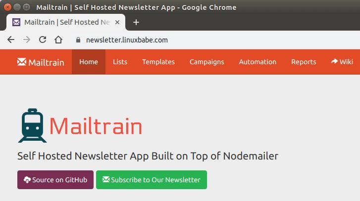 Installing Mailtrain on Ubuntu 18 04 the RAM-Friendly Way