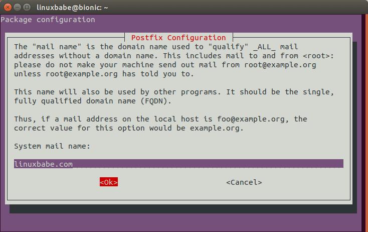 postfix smarthost ubuntu