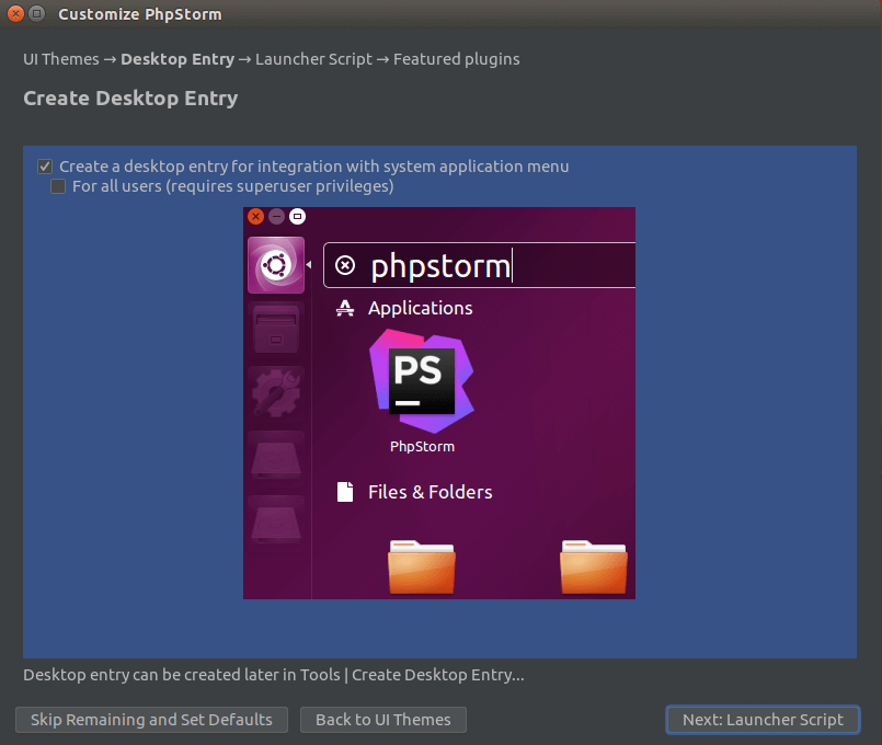 phpstorm desktop icon