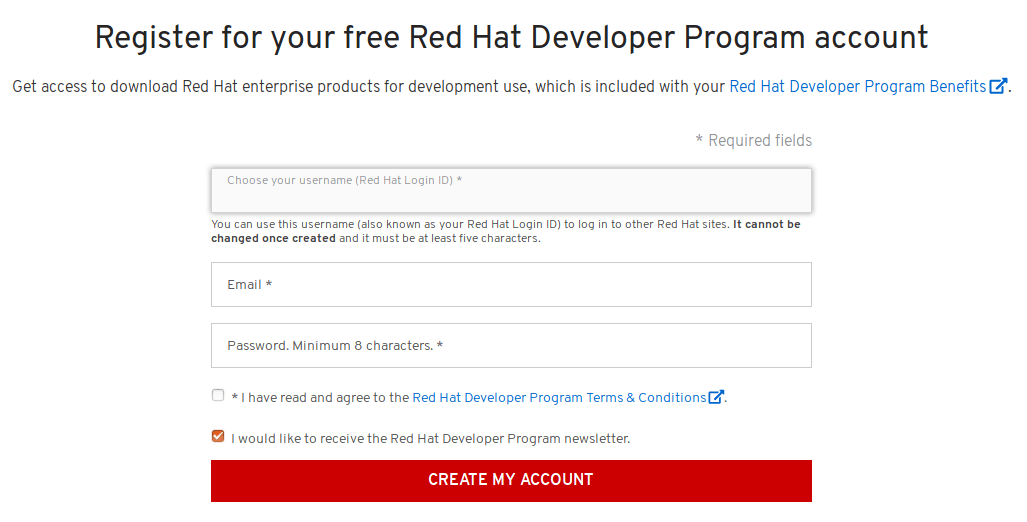 red hat developer program