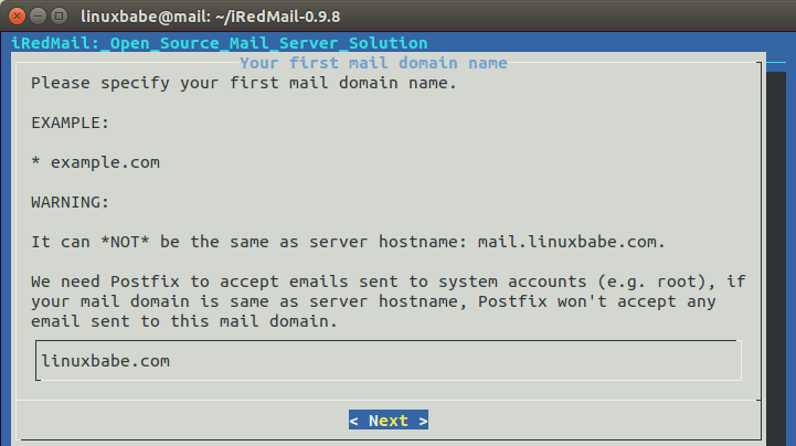 set up mail server on ubuntu 18.04