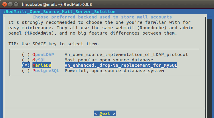 ubuntu 18.04 email server