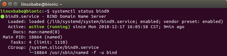 bind 9 ubuntu 18.04 server