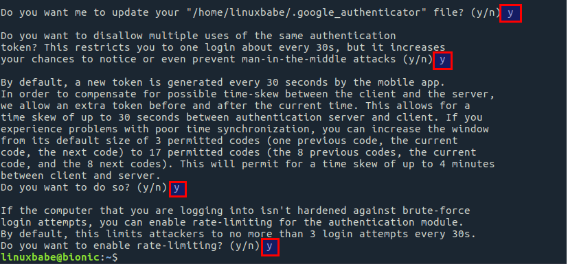 libpam-google-authenticator rate-limiting