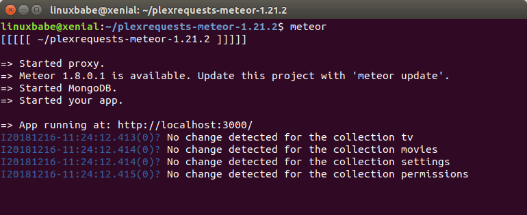 plex requests meteor port 3000