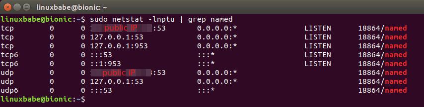ubuntu 18.04 bind9 setup
