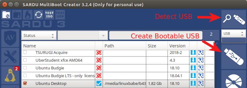 SARDU MultiBoot Creator ubuntu