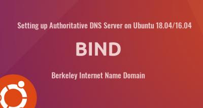authoritative DNS server BIND ubuntu 18.04