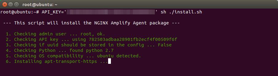 nginx amplify ubuntu 18.04